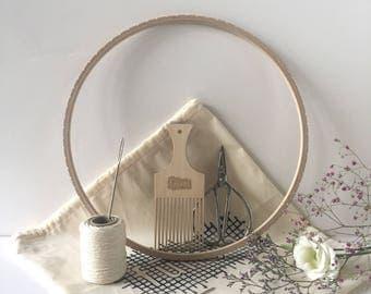 Circular Weaving Loom Kit / 28 cm / 11 inch / Weaving kit / Kit de Tissage