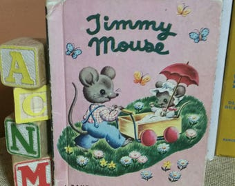 "Rand McNally Elf Junior Book ""Timmy Mouse"" by Miriam Clark Potter/Vintage 1951 Collectible Children's Book/First Edition/Nursery/Baby Decor"