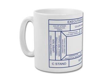 "Derby County Minimalist Graphic Design Mug - Baseball Ground ""Ticket Stub"""