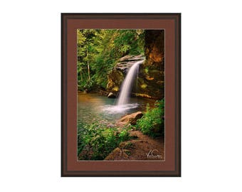 Old Man Cave Area Lower Water Falls Photo, Hocking Hills State Park, Ohio, Fine Art Photography, Wall Art, Wall Decor,