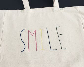 "Cabas ""SMILE"" - Broderie Cornely"
