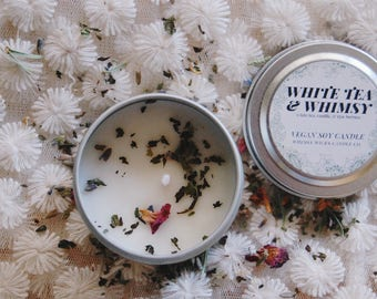 Vegan Travel Tin Candle, Eco-friendly Candle, Handmade Candle, Soy Candle
