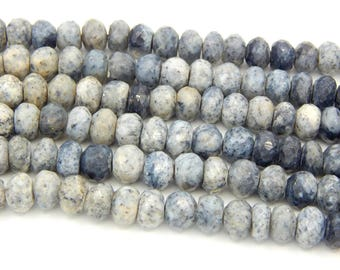 70%OFF Dendrite Opal Rondelle Beads /Dendrite Opal Faceted beads 100 Persent Natural Gemstone Size 9x9.8 mm Approx  - 0#65