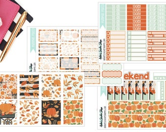 A La Carte Pumpkin Patch Weekly Kit for ECLP Vertical Planner Stickers