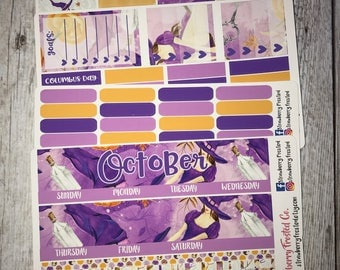 October (Purple Halloween)---- Monthly Planner Kit ---- {Includes 160+ Stickers}