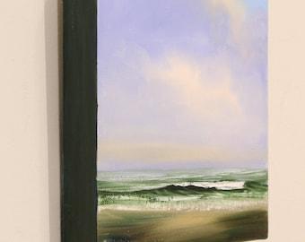 Beach Painting, Original Coastal Landscape, Plein Air Seascape, Beach Art, Waves Painting, Original Oil Painting on Canvas, Water Fine Art