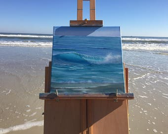 Beach Painting, Coastal Landscape, Seascape, Ocean Waves Art, Blue Sea Oil Painting on Canvas, Ocean Calling