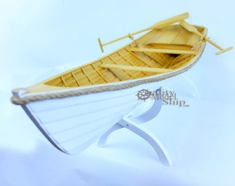 """24"""" Handcrafted wooden row boat"""