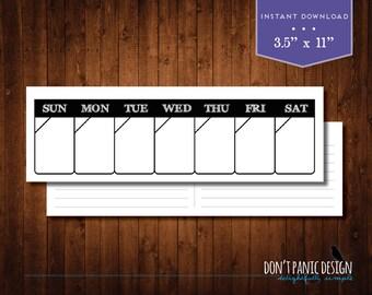 Rustic Printable Perpetual Weekly Calendar Planner - Rustic Weekly Planner - Instant Download