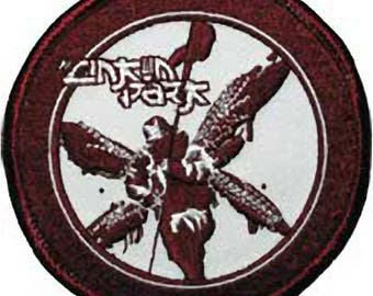Linkin Park LP Blood Red Soldier Embroidered Sew/Iron-On Applique Patch Badge-New!
