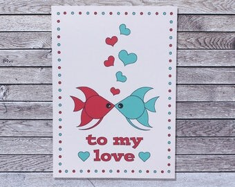Fish Love Card / Anniversary Card