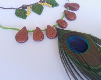 Colors of the Peacock necklace