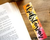 Bookstagram watercolor bookmark with border option