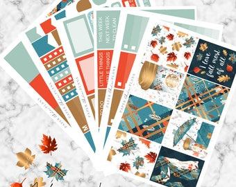 Autumn Leaves | Planner Stickers MATTE | Erin Condren Vertical Weekly Planner Kit