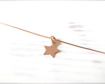 Star | Necklace | Rosé gold
