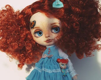 Custom Blythe Dolls For Sale by OOAK custom Blythe with butterfly