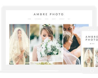 WordPress Theme | Photography Theme | Portfolio Theme | Photography Template | Portfolio Template | Ambre Photo