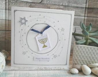 HAPPY HANUKKAH CARD / handmade card / Hanukkah / Happy Hanukkah