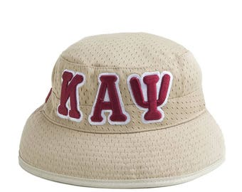 Kappa Alpha Psi Fraternity Khaki Greek Letters Bucket Hat