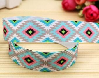 "7/8"" Aztec grosgrain ribbon"