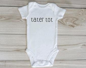 tater tot onesie / custom baby onesie / gender neutral / baby clothes / tater tot baby