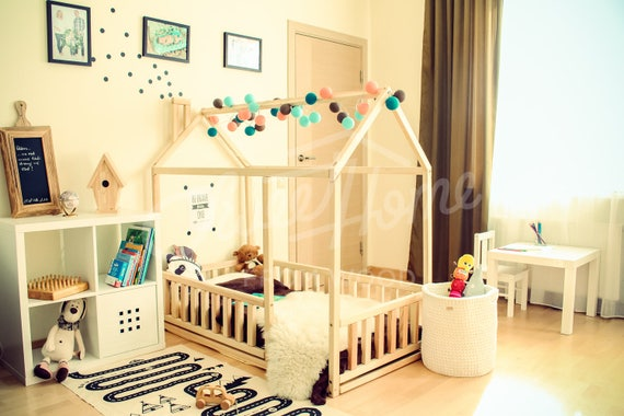 toddler bed twin size baby bed children bed montessori wooden house nursery interior crib toddler bedroom design girl room with fence