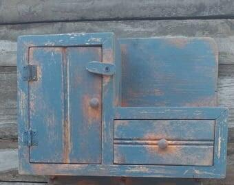 Primitive Farmhouse distressed cabinet