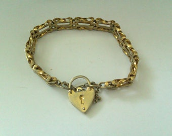 gold plated gate bracelet