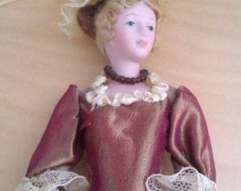 1920's style porcelain doll wall decoration