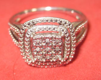 k-34  Beautiful Vintage Ring  925 silver size 7