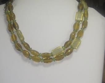 P- 63 Vintage Necklace 32 in long glass beads