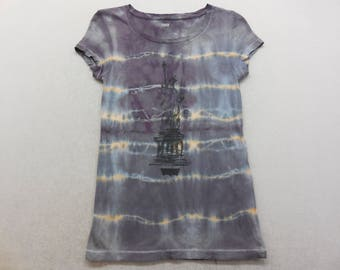 Womens Levi's Statue Of Liberty Tie Dyed Short Sleeve Shirt T-Shirt Size XS