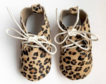 Size 4 Genuine Leather Oxfords, Leopard, Oxfords, Baby Sandals, Fringe Moccasins, Handmade, Toddler Moccasins, Oxford Shoes, Cheetah