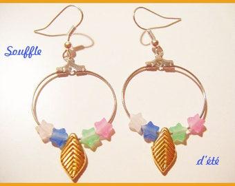 """Hoop earrings """"breath of summer"""""""