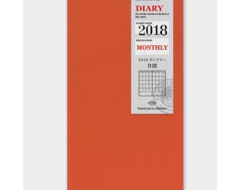 Travelers Notebook 2018 Diary - Monthly
