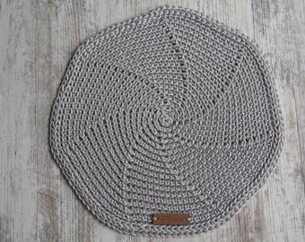 Crochet Silver Table Mats, Round Table Mats, Set Of Crochet Placemats,  Crochet Kitchen