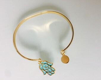 Collection Floriza Bohemian trend gold plated Bangle Bracelet