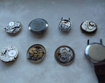 Vintage WATCH PARTS-watch movements / Steampunk/ Altered art/ Mixed media/Assemblage