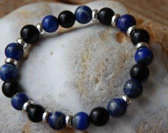 tourmaline and lapis lazuli bracelet
