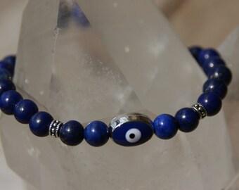 Lucky bracelet lapis lazuli eye
