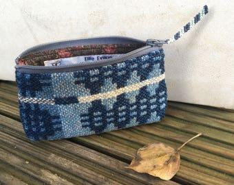 Welsh Tapestry purse/ Vintage Welsh Tapestry coin purse/ Vintage Welsh blanket purse