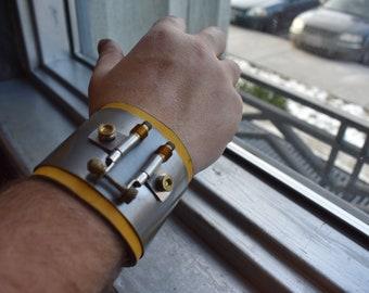 Fantasy Industrial Leather Bracelet