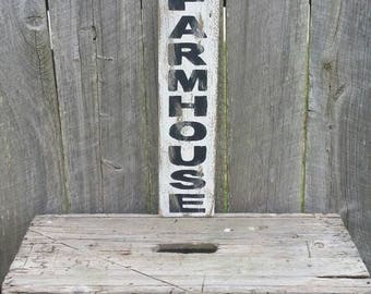 "Farmhouse Rustic Sign 23"" Long Farmhouse Vertical Sign Fixer Upper Magnolia Market Style"