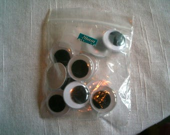 Wiggle Eye Balls/Bag of 12/Size of 20mm/White with Black Center