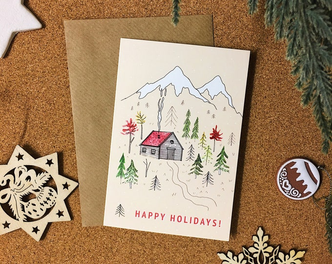 Happy Holidays Christmas Card - Single