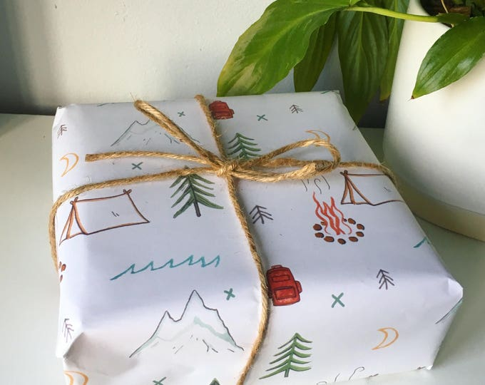 Camping Wrapping Paper