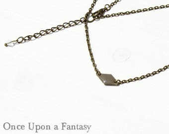 Necklace short diamond taupe - Once Upon a Fantasy