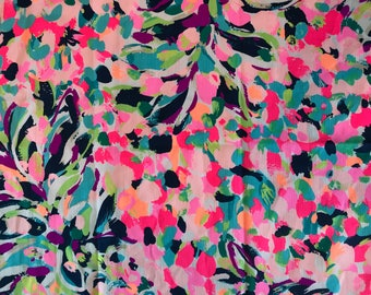 PINA COLADA CLUB  2017 18x18 or 18x9  inches Lilly Fabric Pulitzer