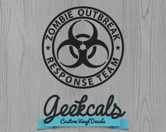 Zombie Outbreak Response Team Custom Decal