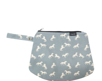 Blue horses clutch bag diaper bag mommy bag baby bag nappy bag cool bag